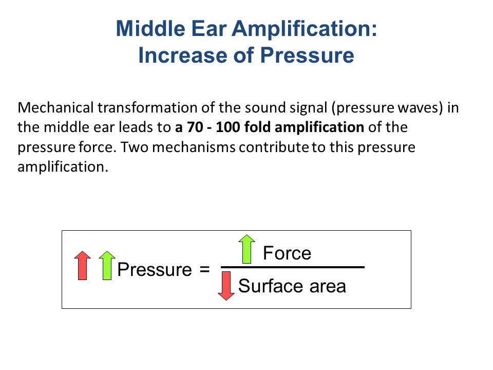 Middle Ear Amplification: Increase of Pressure