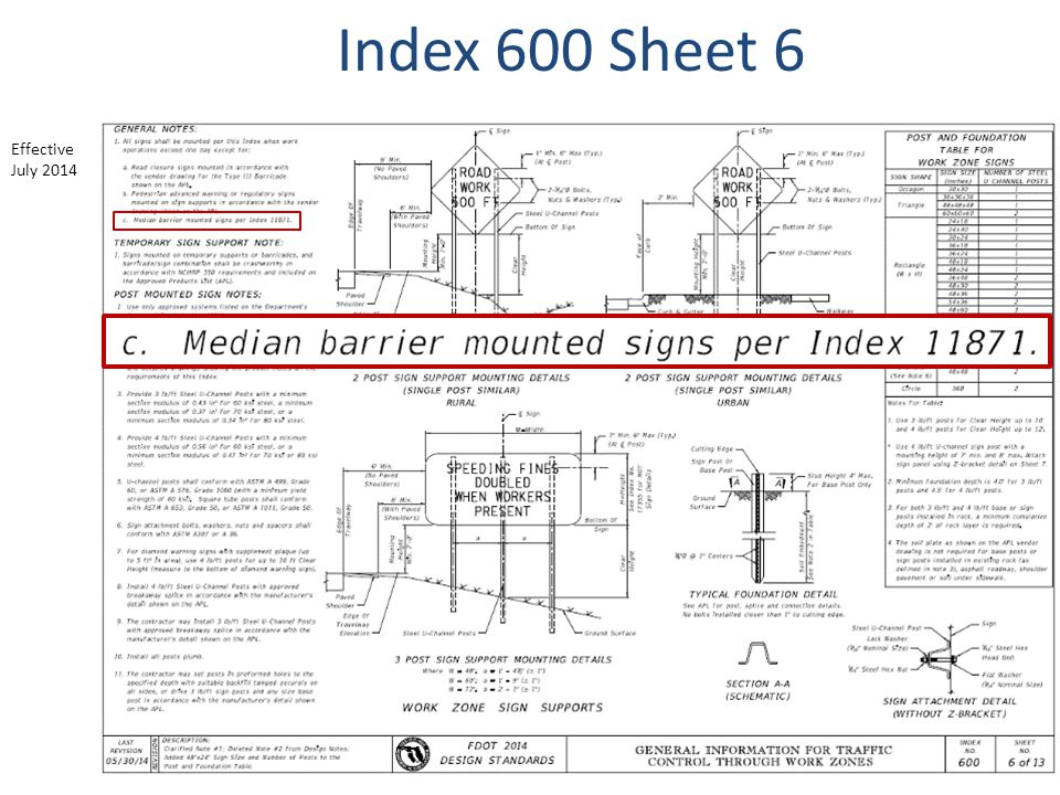 Index 600 Sheet 6 Effective July 2014