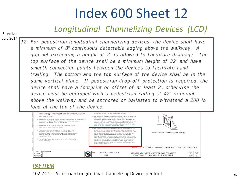Longitudinal Channelizing Devices (LCD)