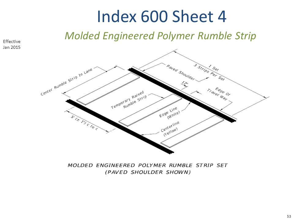 Molded Engineered Polymer Rumble Strip