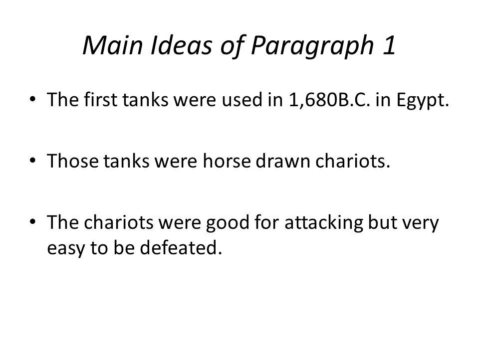 Main Ideas of Paragraph 1