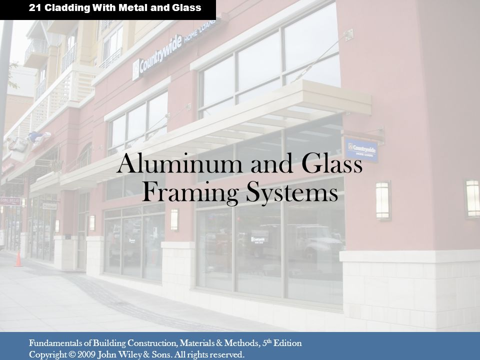 Aluminum and Glass Framing Systems
