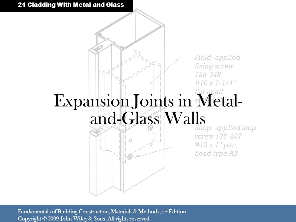 Expansion Joints in Metal-and-Glass Walls