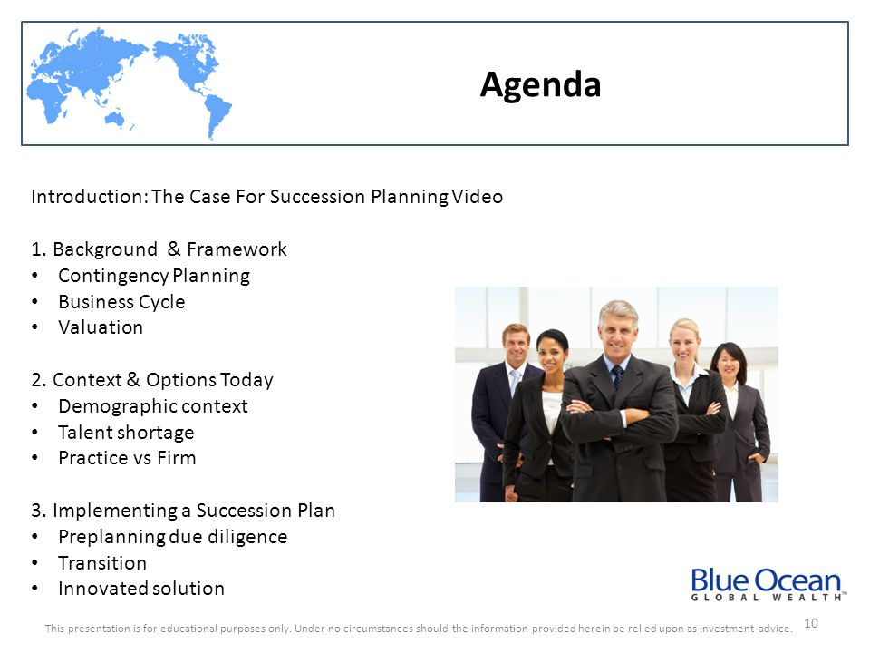 Agenda Introduction: The Case For Succession Planning Video