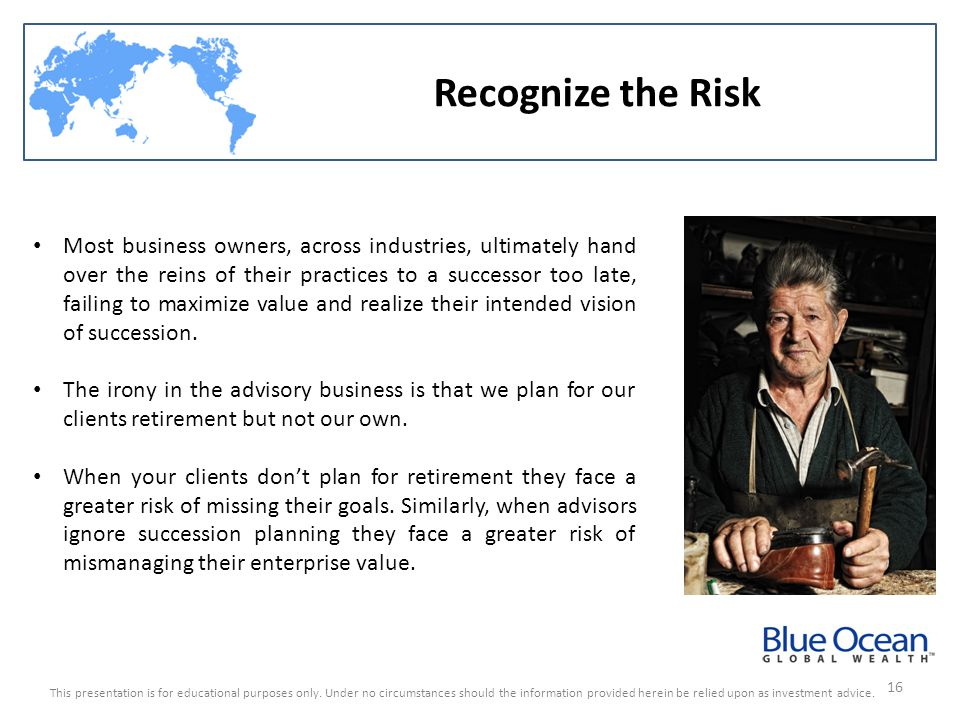 Recognize the Risk