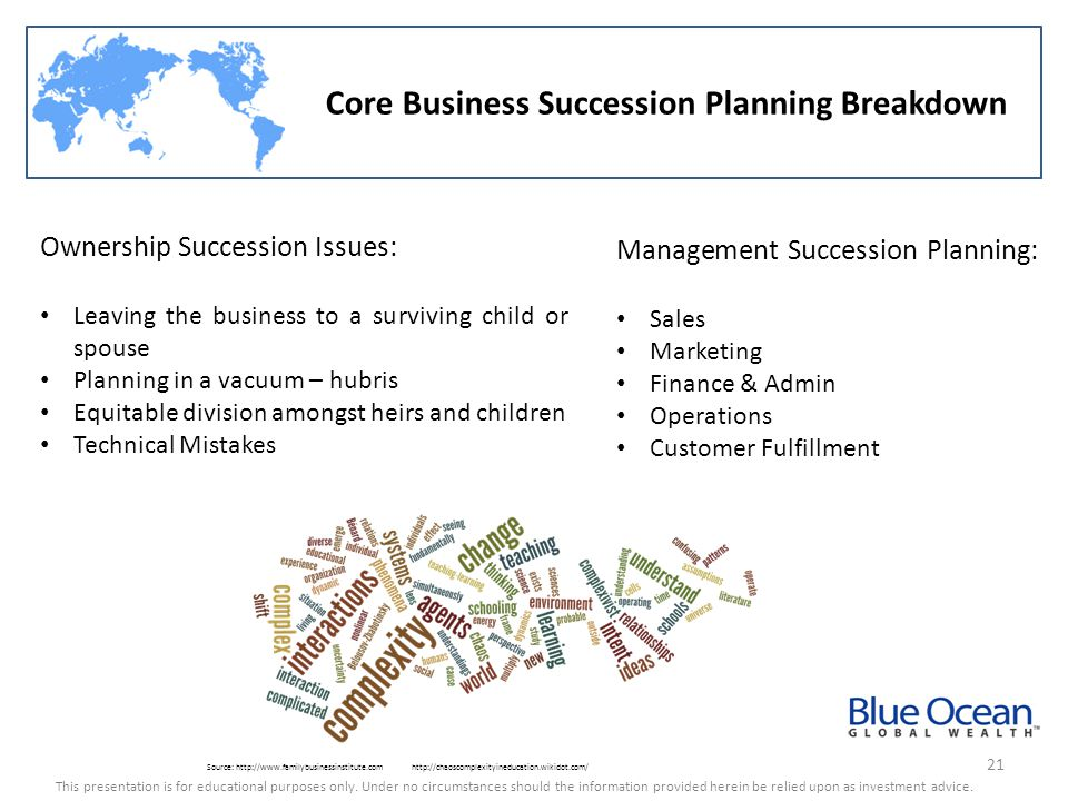Core Business Succession Planning Breakdown
