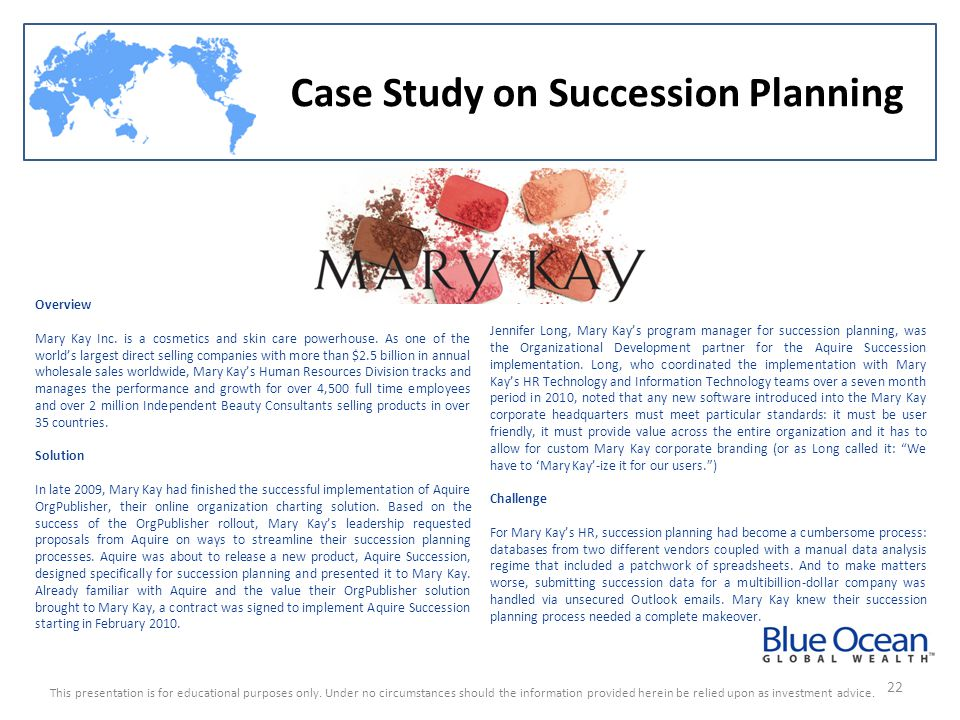 Case Study on Succession Planning