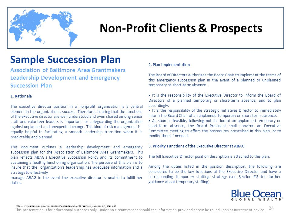 Non-Profit Clients & Prospects