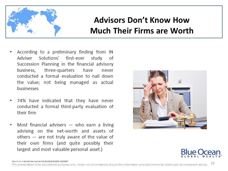 Advisors Don't Know How Much Their Firms are Worth