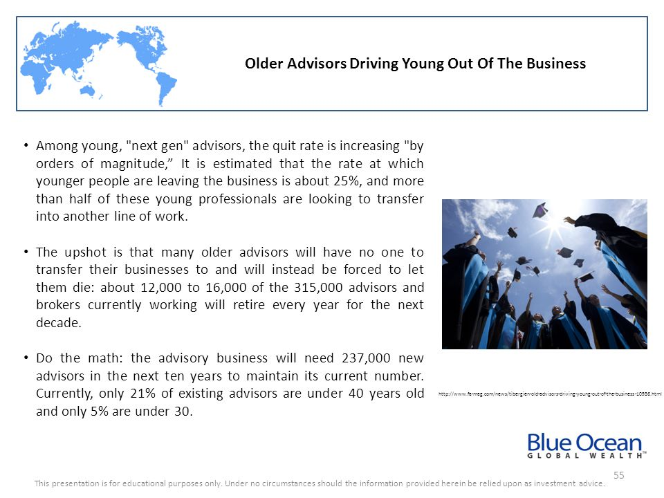 Older Advisors Driving Young Out Of The Business