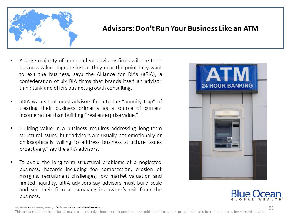 Advisors: Don't Run Your Business Like an ATM