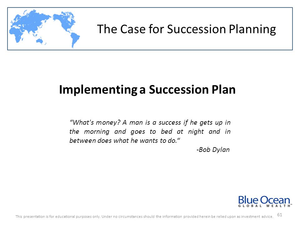 Implementing a Succession Plan