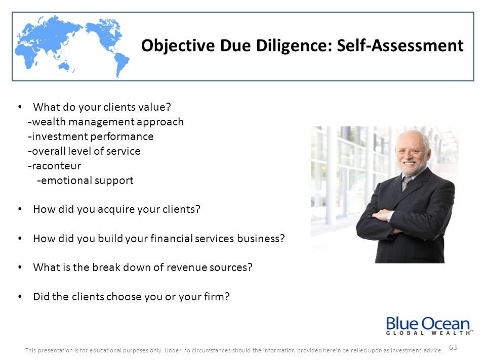 Objective Due Diligence: Self-Assessment