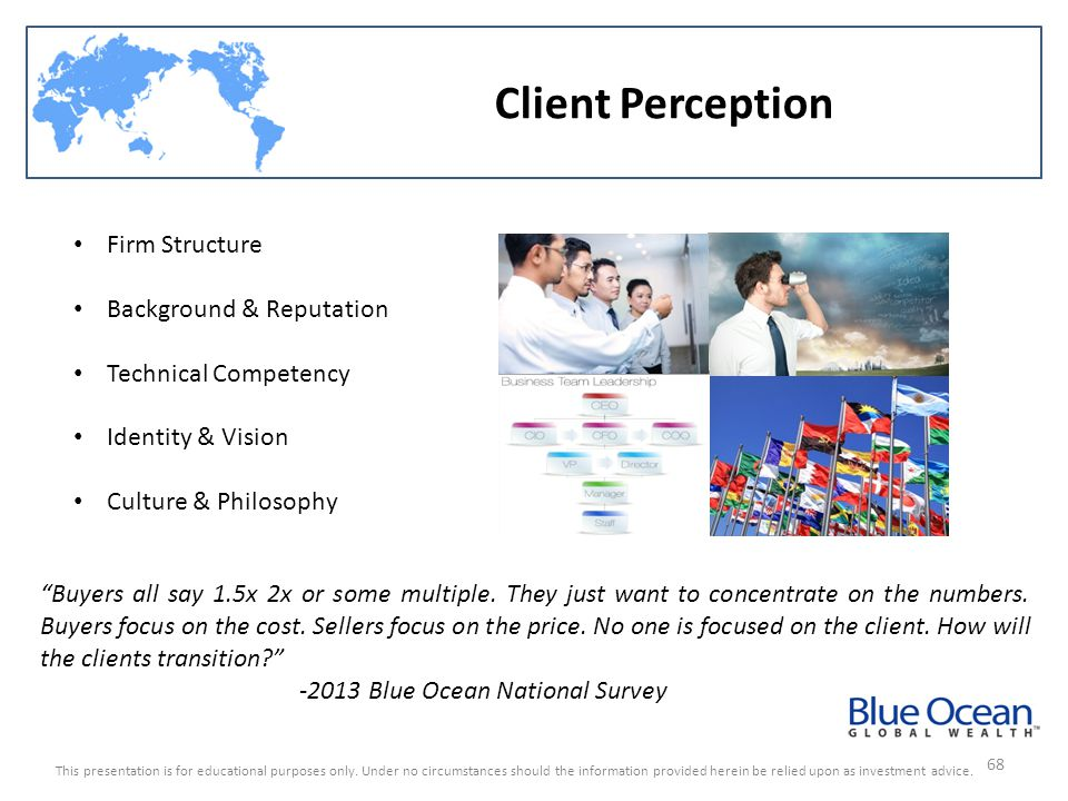 Client Perception Firm Structure Background & Reputation