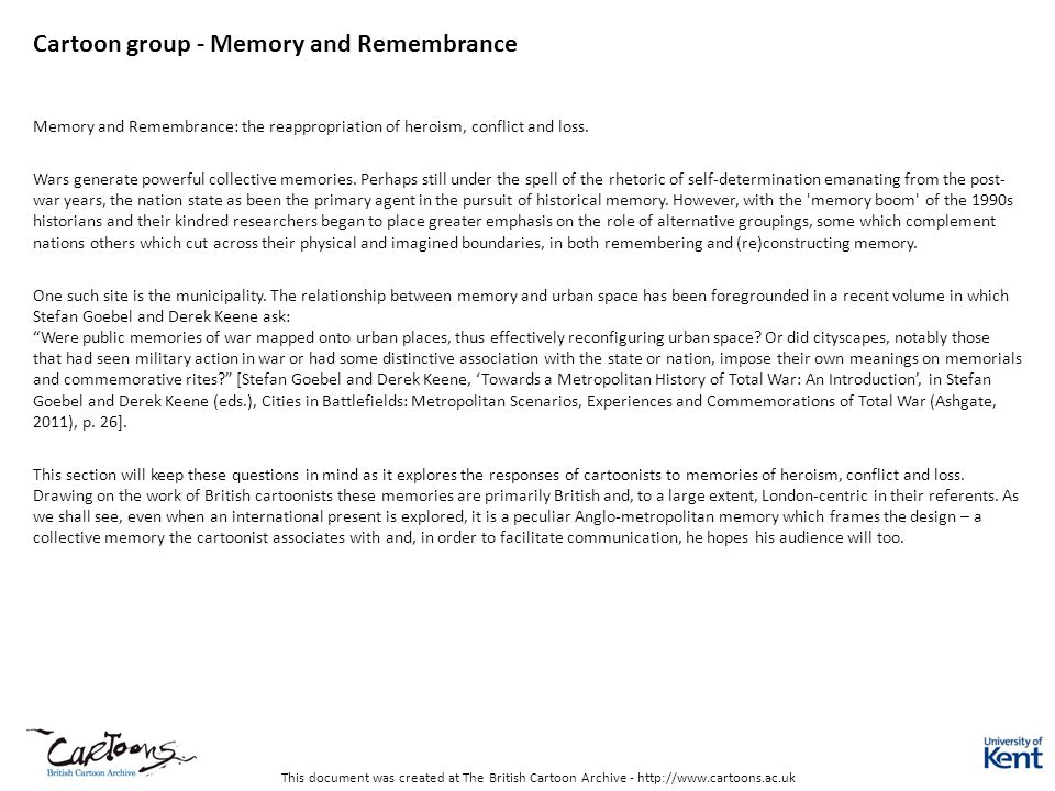 Cartoon group - Memory and Remembrance