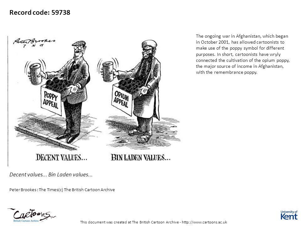 Record code: 59738 Decent values... Bin Laden values...