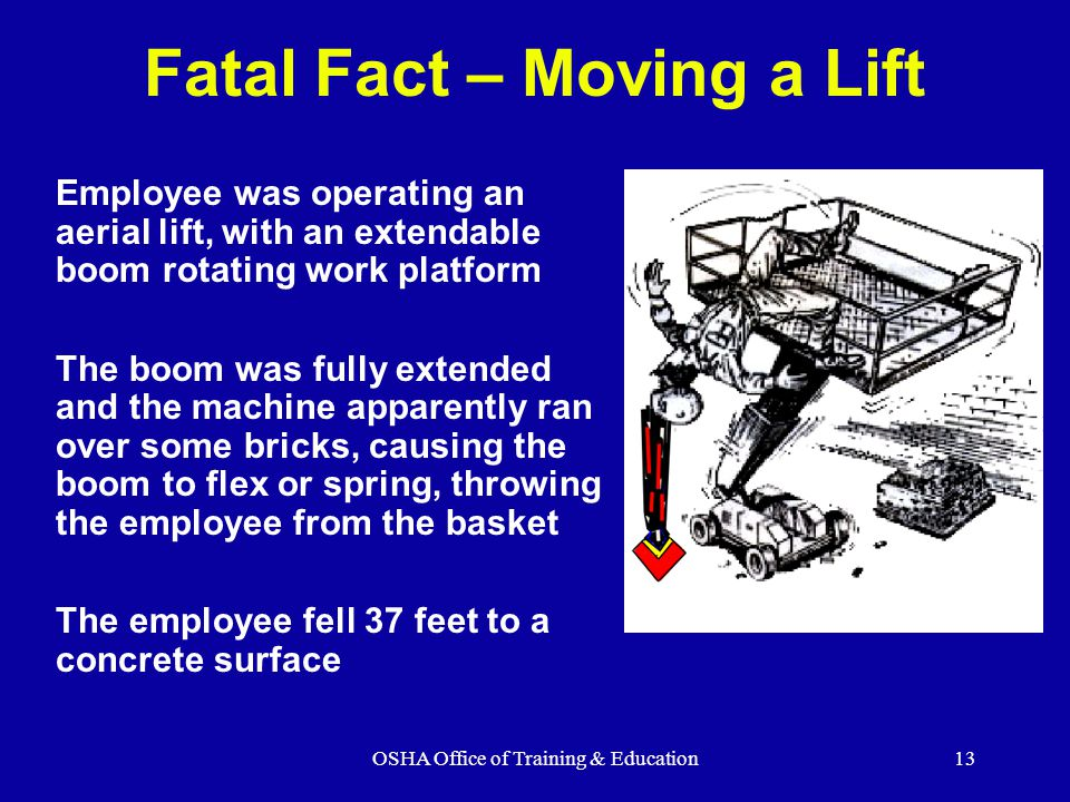 Fatal Fact – Moving a Lift