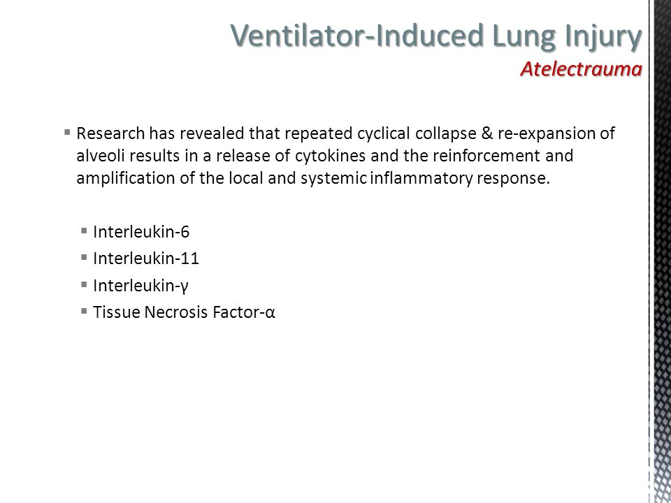 Ventilator-Induced Lung Injury Atelectrauma