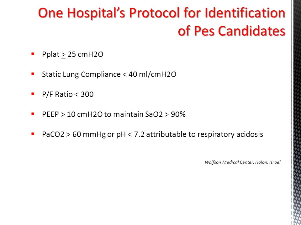 One Hospital's Protocol for Identification of Pes Candidates
