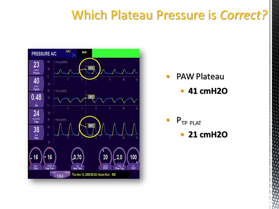 Which Plateau Pressure is Correct
