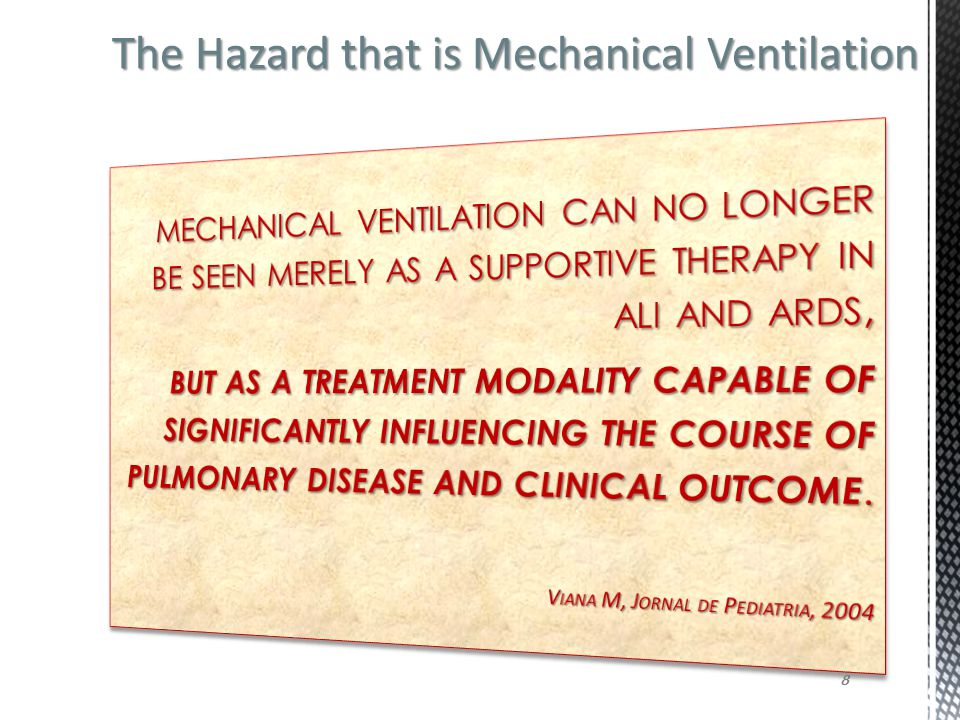 The Hazard that is Mechanical Ventilation