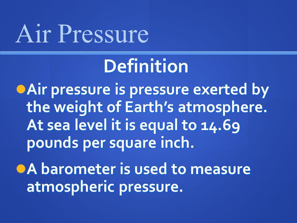 Air Pressure Definition