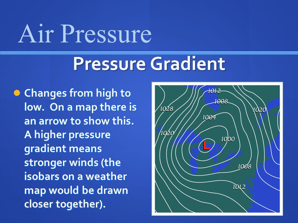 Air Pressure Pressure Gradient
