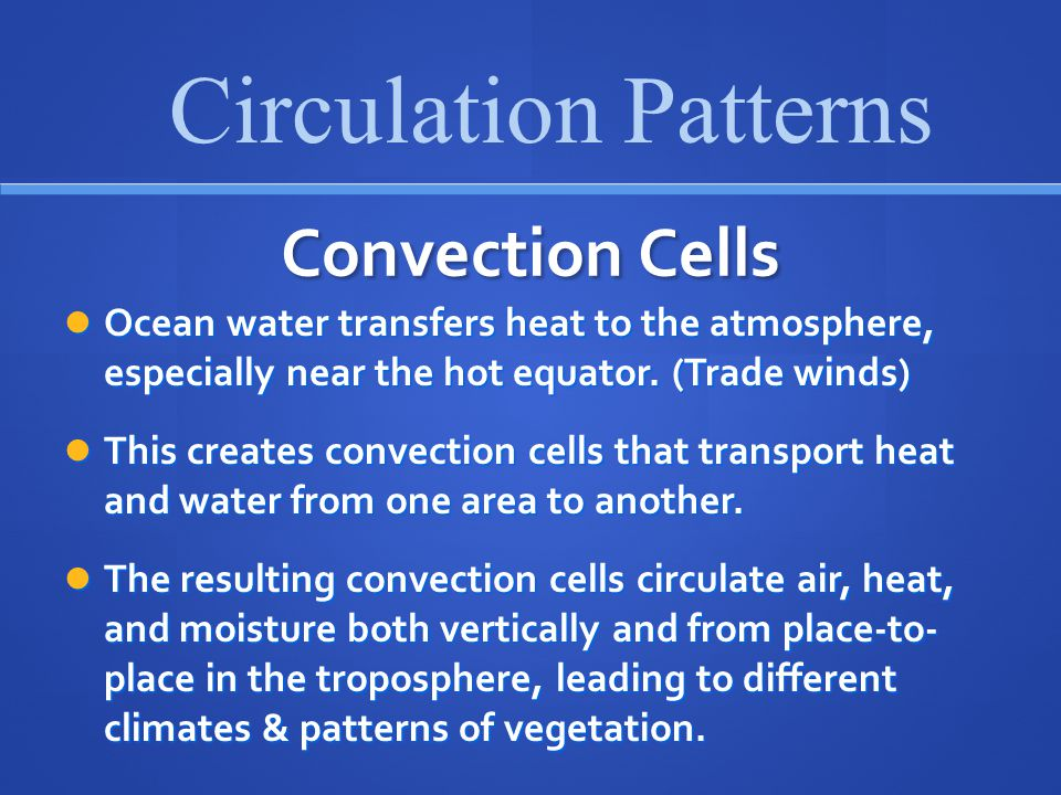 Circulation Patterns Convection Cells
