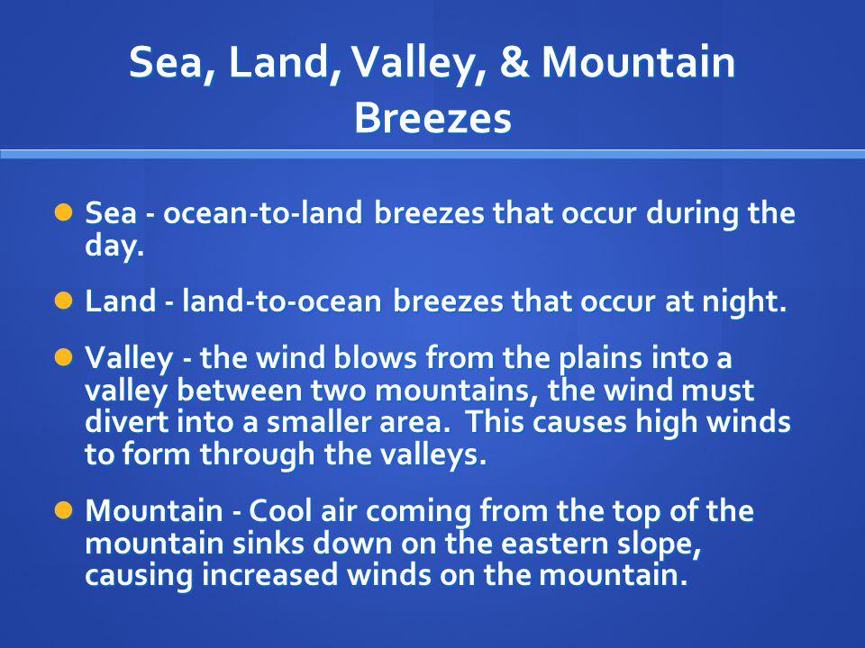 Sea, Land, Valley, & Mountain Breezes