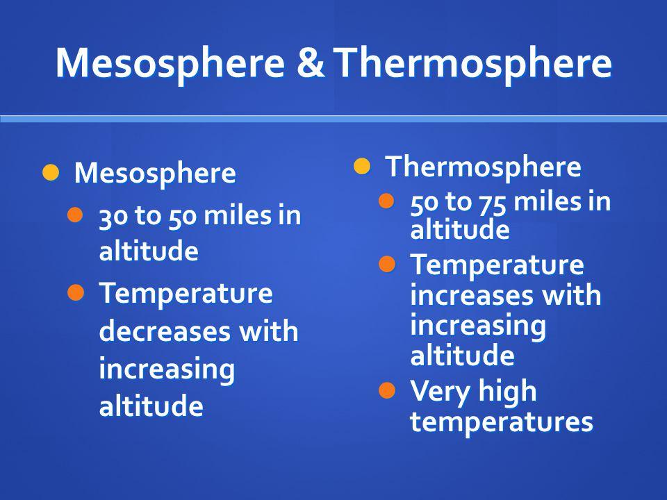 Mesosphere & Thermosphere