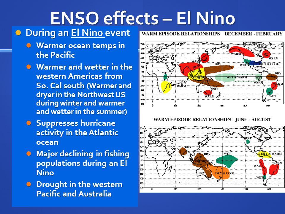 ENSO effects – El Nino During an El Nino event