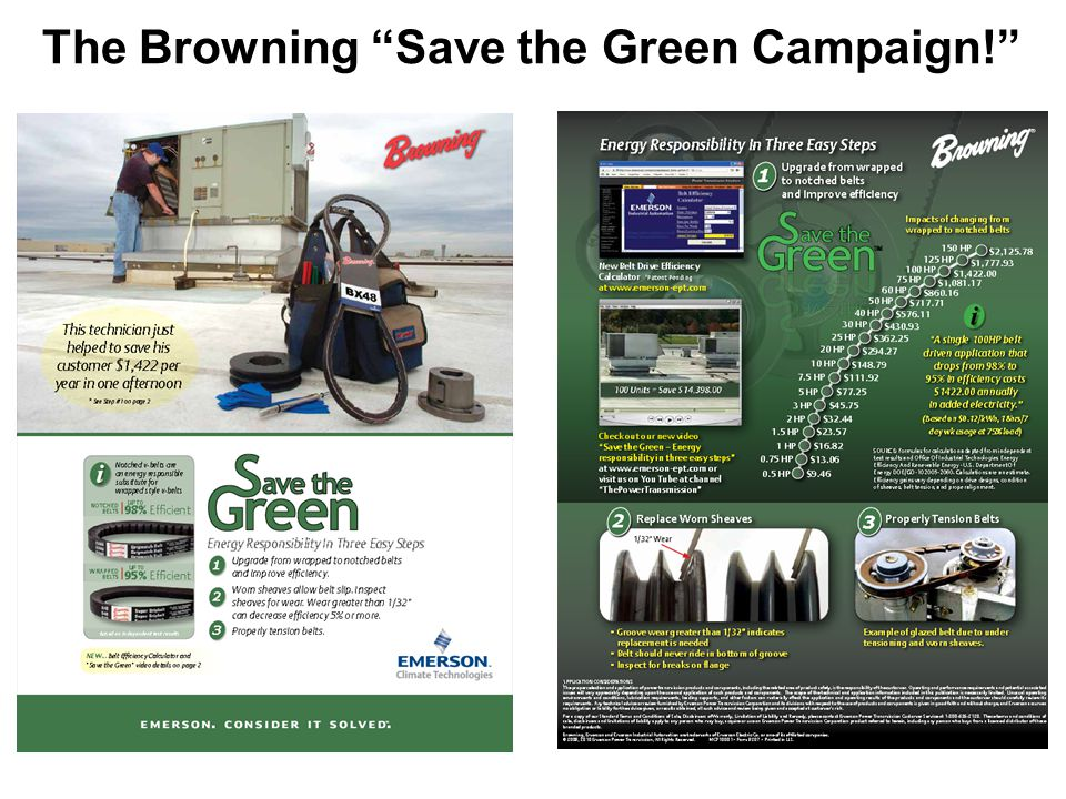 The Browning Save the Green Campaign!