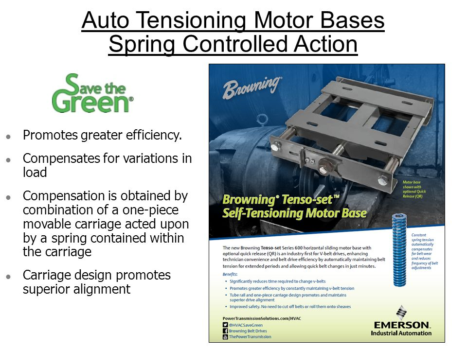 Auto Tensioning Motor Bases Spring Controlled Action