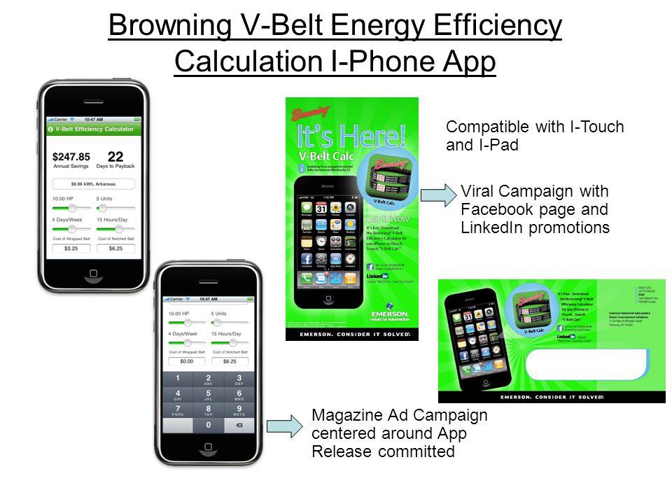 Browning V-Belt Energy Efficiency Calculation I-Phone App