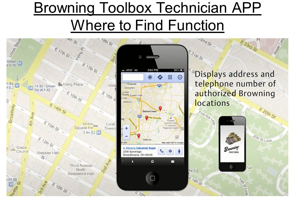 Browning Toolbox Technician APP Where to Find Function