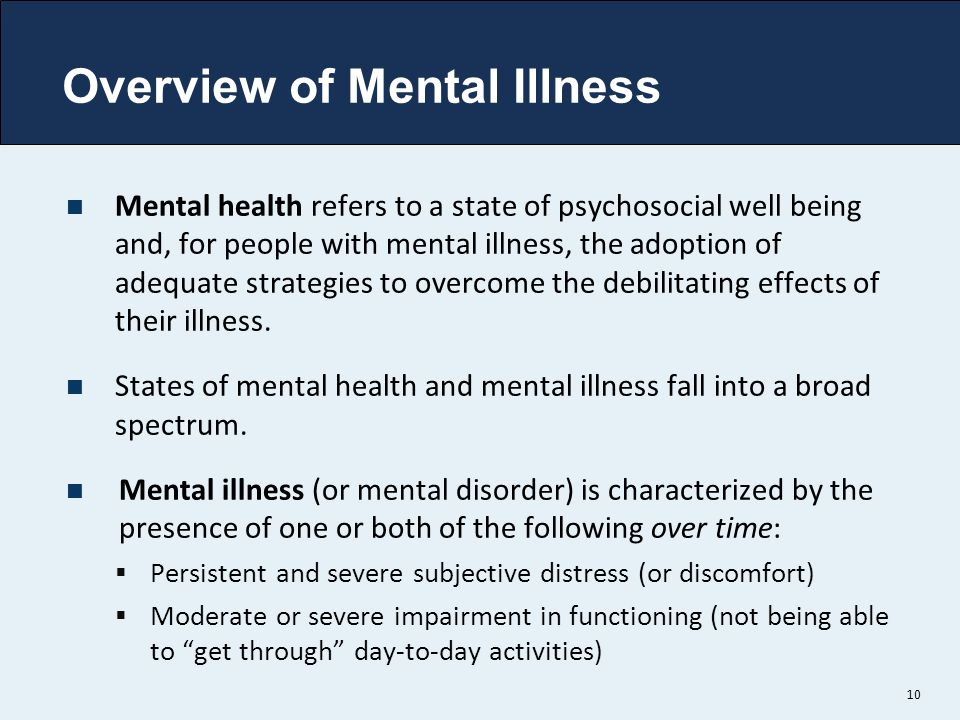 Overview of Mental Illness