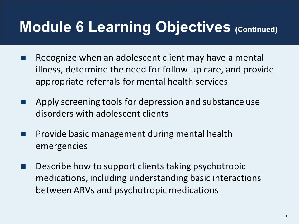 Module 6 Learning Objectives (Continued)