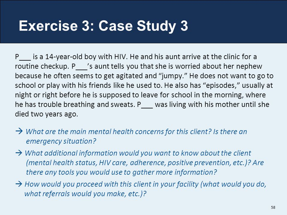 Exercise 3: Case Study 3