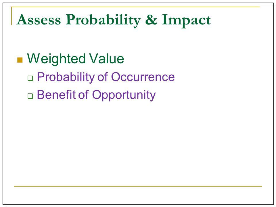 Assess Probability & Impact