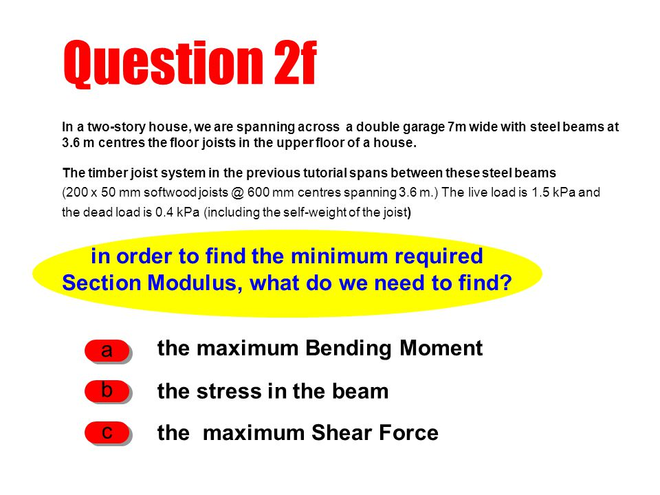 Question 2f in order to find the minimum required