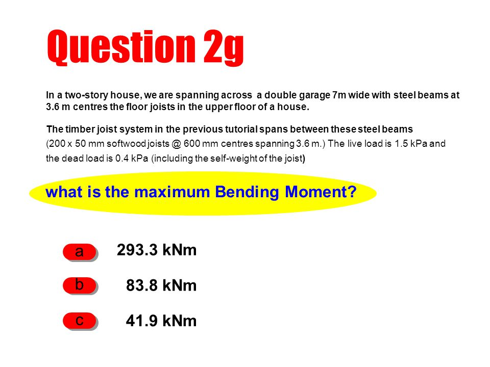 what is the maximum Bending Moment