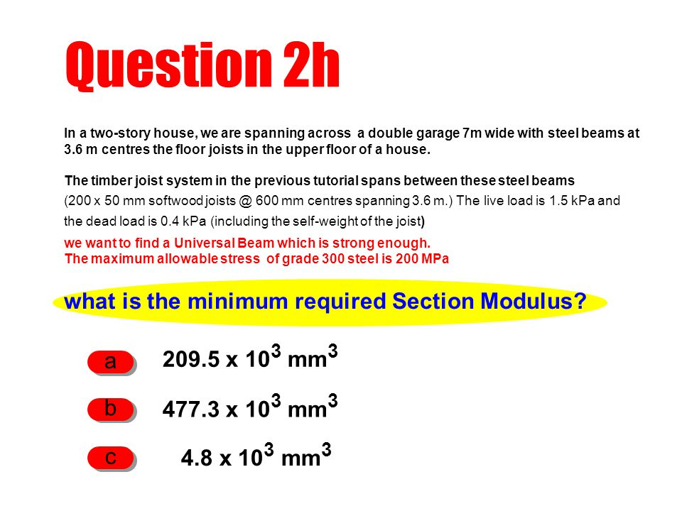 what is the minimum required Section Modulus