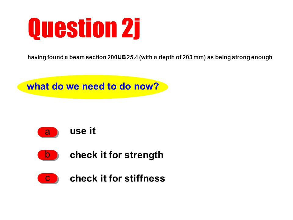Question 2j what do we need to do now a use it b