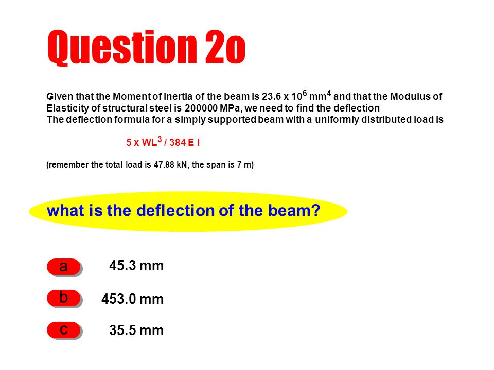 what is the deflection of the beam