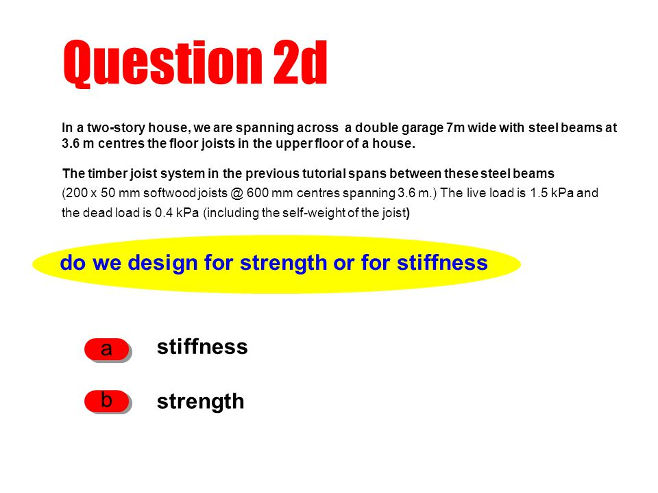 do we design for strength or for stiffness