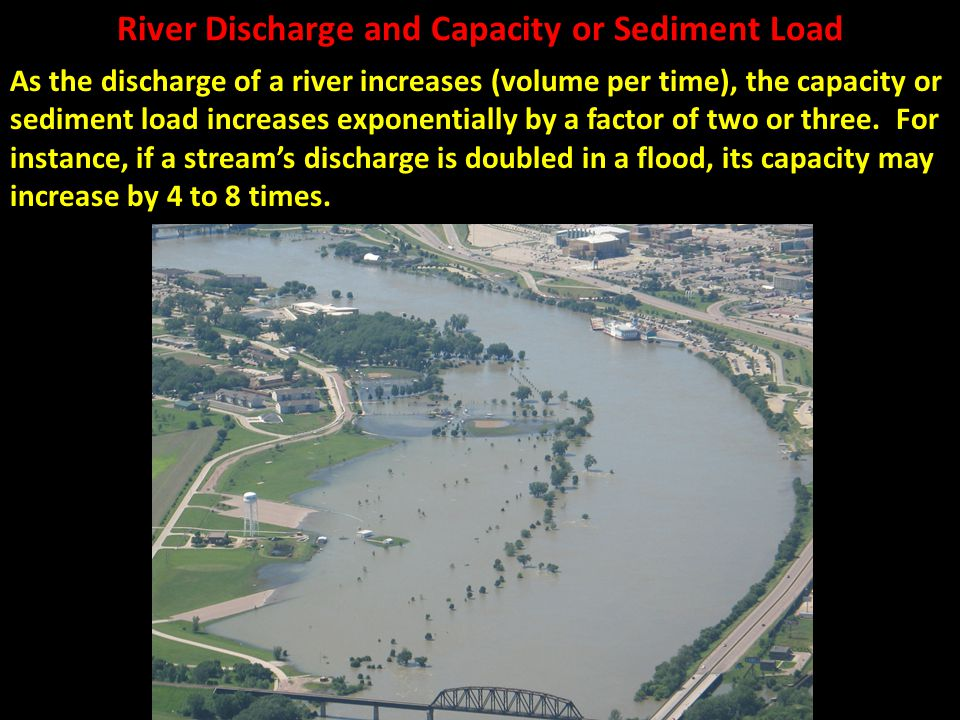 River Discharge and Capacity or Sediment Load