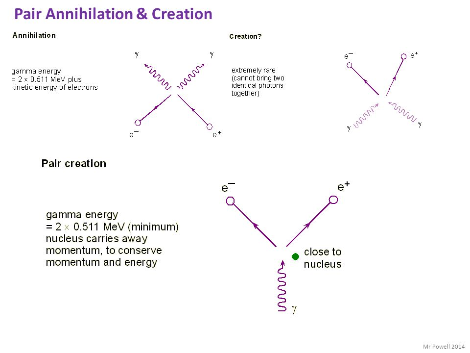 Pair Annihilation & Creation