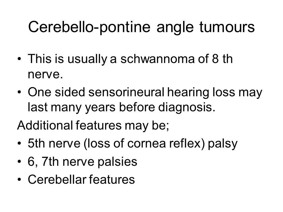 Cerebello-pontine angle tumours