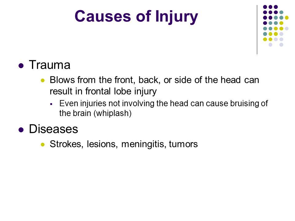 Causes of Injury Trauma Diseases