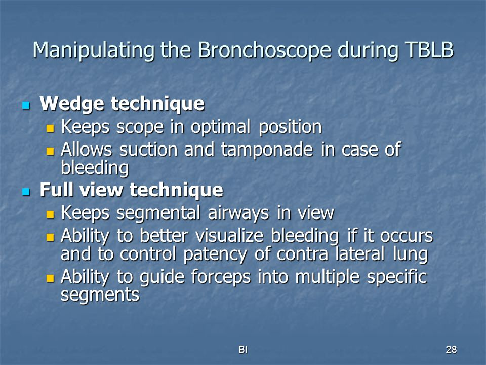 Manipulating the Bronchoscope during TBLB